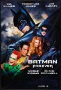 "Movie Posters:Action, Batman Forever (Warner Brothers, 1995). One Sheets (7) (27"" X 40"")DS Advance. Carrey, Kilmer, Jones, O'Donnell, and Kidman ...(Total: 7 Items)"