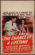 """Movie Posters:Crime, The Chance of a Lifetime (Columbia, 1943). Window Card (14"""" X 22""""). Crime.. ..."""