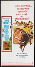 "Movie Posters:Elvis Presley, Stay Away, Joe (MGM, 1968). Three Sheet (41"" X 81""). ElvisPresley.. ..."