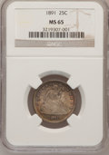 Seated Quarters, 1891 25C MS65 NGC....