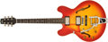 Musical Instruments:Electric Guitars, 1997 Heritage H535 ACB Left-Handed Cherry Sunburst Semi Hollow Electric Guitar #A070905....