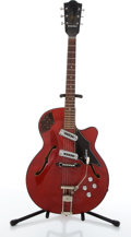 Musical Instruments:Electric Guitars, Vintage Framus Atlantic 5/110 Red Archtop Electric Guitar#53319....