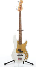 Musical Instruments:Bass Guitars, 2008/09 Fender Precision Special Ivory Metallic Electric BassGuitar #MZ8071984....