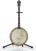 Musical Instruments:Banjos, Mandolins, & Ukes, Vintage May Bell Maple Tenor Banjo # N/A....