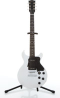 Musical Instruments:Electric Guitars, 2004 Gibson Les Paul White Electric Guitar #01424395....