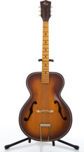 Musical Instruments:Acoustic Guitars, Vintage Kay 6858 Sunburst Archtop Acoustic Guitar #L12606858....