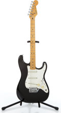 Musical Instruments:Electric Guitars, 1980's Fender American Stratocaster Black Electric Guitar # E339375....