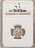 Three Cent Nickels: , 1870 3CN AU58 NGC. NGC Census: (21/291). PCGS Population (38/286).Mintage: 1,335,000. Numismedia Wsl. Price for problem fr...