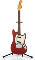 Musical Instruments:Electric Guitars, 1966 Fender American Mustang Red Electric Guitar #179931....