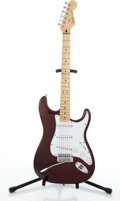 Musical Instruments:Electric Guitars, 2000/01 Fender Stratocaster Burgundy Electric Guitar #MZ0108561....