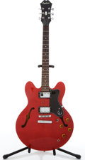 Musical Instruments:Electric Guitars, 1999 Epiphone Dot Red Archtop Electric Guitar #I99082932....