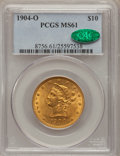 Liberty Eagles: , 1904-O $10 MS61 PCGS. CAC. PCGS Population (98/269). NGC Census:(180/197). Mintage: 108,950. Numismedia Wsl. Price for pro...