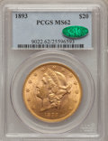 Liberty Double Eagles: , 1893 $20 MS62 PCGS. CAC. PCGS Population (1525/693). NGC Census:(2231/694). Mintage: 344,200. Numismedia Wsl. Price for pr...