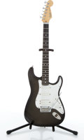 Musical Instruments:Electric Guitars, 1991/92 Fender American Stratocaster Black Electric Guitar#N1051435....