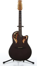 Musical Instruments:Acoustic Guitars, 2001 Adamus By Ovation Melissa Etheridge Model Electric Acoustic 12-String Guitar #17518....
