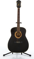 Musical Instruments:Acoustic Guitars, Vintage Harmony Sovereign H6562 Black Acoustic Guitar # N/A....