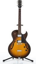 Musical Instruments:Electric Guitars, 2002 Gibson ES-135 Sunburst Archtop Electric Guitar #02662714....