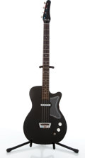 Musical Instruments:Bass Guitars, 1960's Silvertone 1444 Black Electric Bass Guitar # N/A...