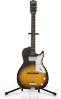 Musical Instruments:Electric Guitars, Vintage Harmony Stratotone Sunburst Electric Guitar # N/A....