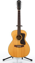 Musical Instruments:Acoustic Guitars, Late 1960's Guild F212 Natural Acoustic Guitar #AN1183....