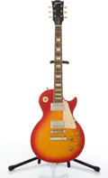 Musical Instruments:Electric Guitars, Gibson Les Paul Classic 60's Reissue Cherry Burst Electric Guitar#002586....