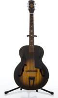 Musical Instruments:Acoustic Guitars, Vintage Harmony Flame Archtop Acoustic Guitar # N/A....