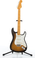 Musical Instruments:Electric Guitars, Fender Eric Johnson Stratocaster Sunburst Electric Guitar#EJ03434....