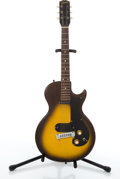 Musical Instruments:Electric Guitars, 1960's Gibson Melody Maker 3/4 Sunburst Electric Guitar #03145....