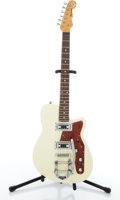 Musical Instruments:Electric Guitars, Reverend Flatroc White Electric Guitar #04822ZSG....