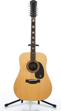 Musical Instruments:Acoustic Guitars, Circa 1969 Epiphone FT-165 Natural 12-String Acoustic Guitar#1051790....