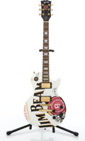 Musical Instruments:Electric Guitars, 2003 Gibson Les Paul Standard Jim Beam Edition White ElectricGuitar #01433239....