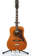 Musical Instruments:Acoustic Guitars, Vintage Vox Folk Twelve Orange Electric Acoustic Guitar #443574....