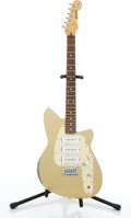 Musical Instruments:Electric Guitars, Reverend Slingshot Gold Tone Metal Top Electric Guitar#01986ZSG....