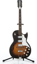 Musical Instruments:Electric Guitars, Vintage Kay Old Kraftsman Speed Demon Sunburst Archtop ElectricGuitar # N/A....