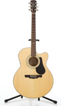 Musical Instruments:Acoustic Guitars, Modern Alvarez AJ-60SC Natural Electric Acoustic Guitar #02114898....