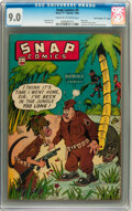 "Golden Age (1938-1955):Miscellaneous, Snap Comics #9 Davis Crippen (""D"" Copy) pedigree (Chesler, 1944) CGC VF/NM 9.0 Cream to off-white pages...."