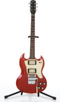 Musical Instruments:Electric Guitars, 1970 Gibson Melody Maker Red Electric Guitar #900278...