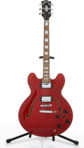 Musical Instruments:Electric Guitars, 2000 Gibson ES-335 Red Archtop Electric Guitar #02260583....