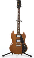 Musical Instruments:Electric Guitars, 1960's Gibson SG Walnut Electric Guitar #626041....