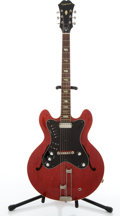 Musical Instruments:Electric Guitars, 1964 Epiphone Professional Cherry Semi-Hollow Body Electric Guitar,177793. ...