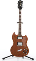 Musical Instruments:Electric Guitars, Vintage Guild S100 Carved Walnut Electric Guitar #102748....