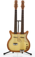 Musical Instruments:Electric Guitars, 1960's Danelectro Copper Burst Double Neck Combo Electric Bass& Guitar # N/A....