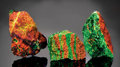 Minerals:Flourescent, WILLEMITE AND CALCITE PATTERNS FROM TWO LOCALITIES. ...