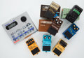 Musical Instruments:Amplifiers, PA, & Effects, Lot of 8 Boss & Ibanez Pedals. ...