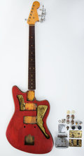 Musical Instruments:Electric Guitars, Vintage Fender Jazzmaster Red Parts/Project Electric Guitar # 47048....