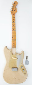 Musical Instruments:Electric Guitars, 1956 Fender Musicmaster Aged White Electric Project Guitar, Serial # 14477....