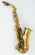 Musical Instruments:Horns & Wind Instruments, Circa 1921 J.W. York & Sons Soprano Low Pitch Saxophone #60057....