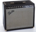 Musical Instruments:Amplifiers, PA, & Effects, 1980's Fender Princeton Reverb II Black Amplifier #F216884....