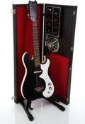 Musical Instruments:Electric Guitars, 1960's Silvertone 1448 Black Speckle Electric Guitar With AmplifierCase #185.10010...