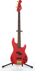 Musical Instruments:Bass Guitars, 1984-87 Fender Precision Red Electric Guitar #E960907....